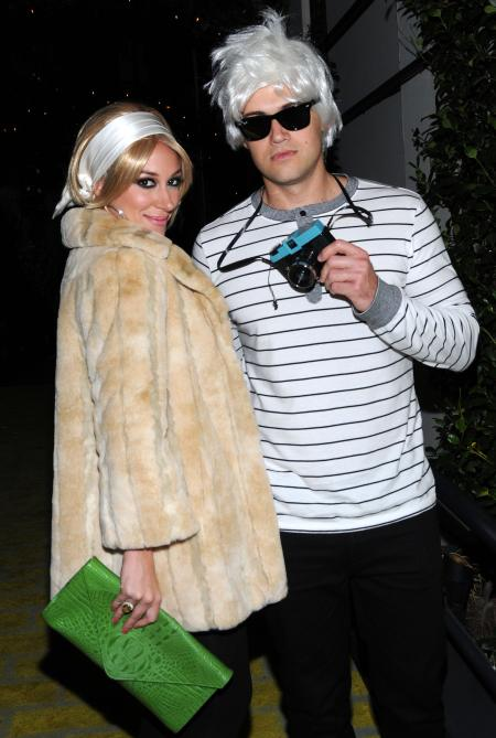 Haylie Duff and boyfriend as Edie Sedgwick and Andy Warhol