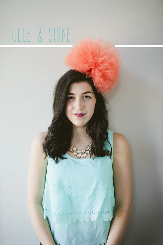 Tulle Poof Hat