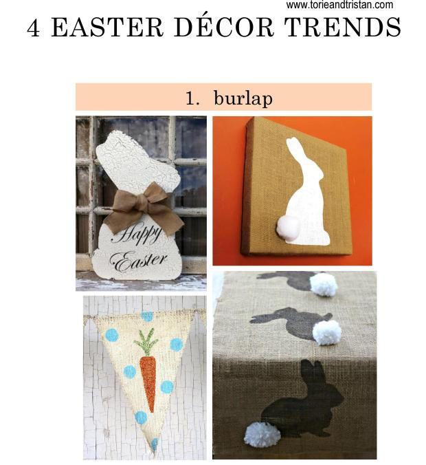 Torie and Tristan - 4 Spring Decor Trends - TREND 1- Burlap