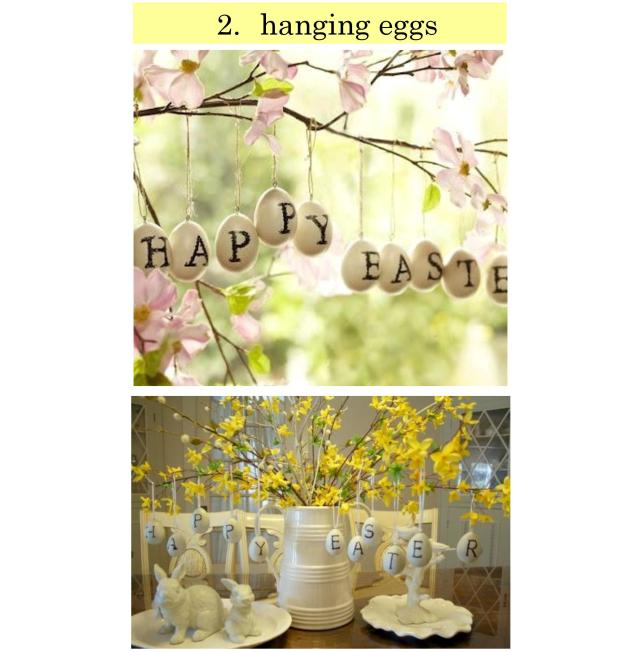 Torie and Tristan - 4 Spring Decor Trends - TREND 2 - Hanging Eggs