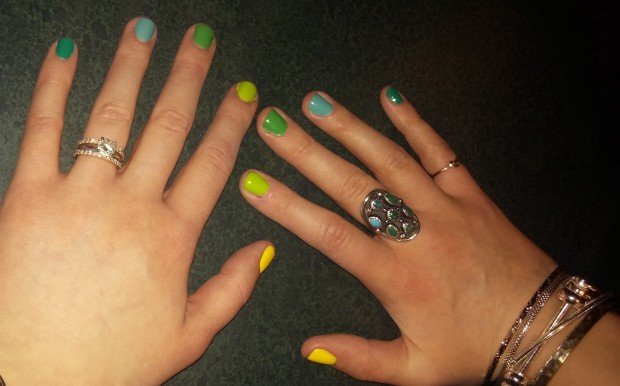 Multi Color Manicure via Torie and Tristan