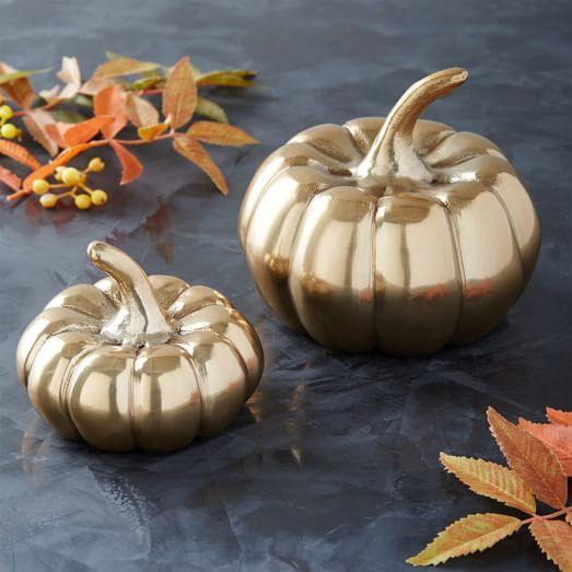 West Elm Brass Pumpkin